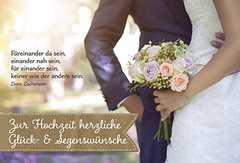 Faltkarte: Zur Hochzeit herzliche Glück- & Segenswünsche