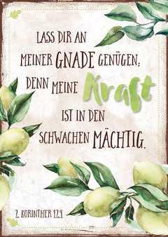 """Postkartenserie """"Kraft / Zitronen"""" - 12 Stück"""