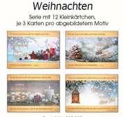 Kleinkärtchenserie Weihnachten/Neujahr, 12 Stück