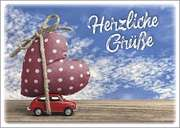 Postkarten: Herzliche Grüße, 4 Stück