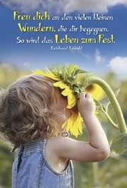 Faltkarte: Freu dich an den kleinen Wundern - Geburtstag