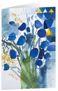 """Kunstkarten """"Blaue Blumen"""""""
