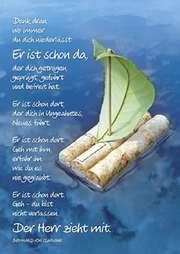 Postkarten: Denk dran, 4 Stück