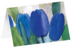 """Kunstkarten """"Blaue Tulpen"""" - 5 Stück"""