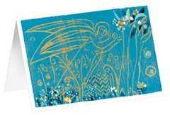 """Kunstkarten """"Blauer Engel"""" - 5 Stk."""