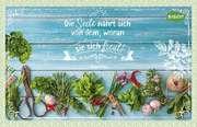 Kräuter-Dip-Postkarte - Die Seele nährt sich