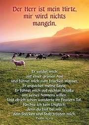 Postkarten: Der Herr ist mein Hirte, 4 Stück